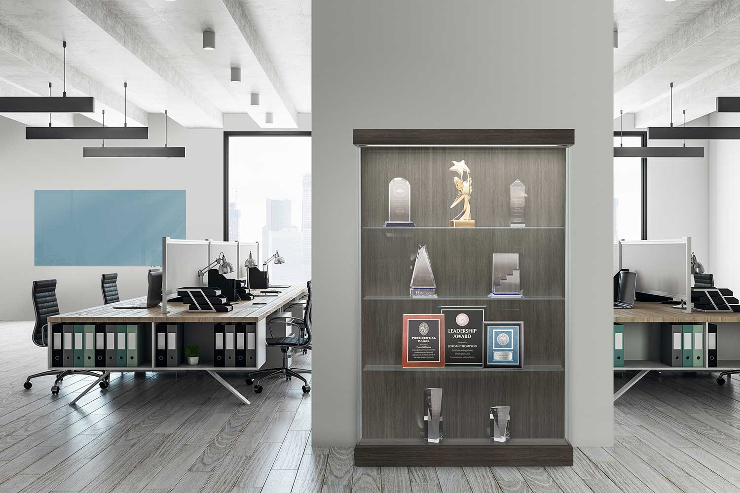 Display Cases, Space Division, Open Office Furniture | Waddell